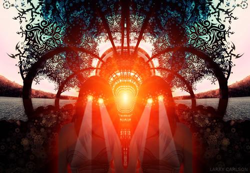 LARRY CARLSON, Gemini Sun, digital photography, 2012.