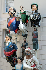Figureheads at the National Maritime Museum (big_jeff_leo) Tags: maritime london greenwich museum navy sea figurehead ship bottle bow statue wood painted