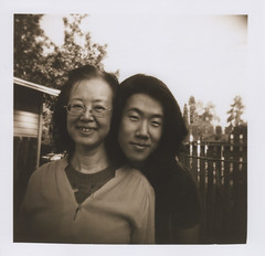 Dabao and his mom 5, Corvallis 2016 (Sara J. Lynch) Tags: sara j lynch dabao mom corvallis oregon willamette valley holga 120n film black white