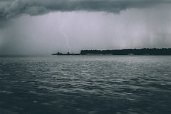 The One (KK Productions) Tags: sea ocean water reflection light lights lightning stop moment one cloudy clouds cloud island lake sky rain storm thunder thunderstorm moody