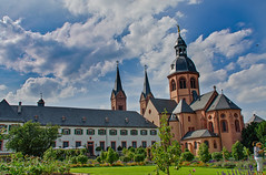 Seligenstadt Klosteranlage (YomDom) Tags: seligenstadt hessen old kloster church klostergarten hdr dynamic range high cloudy sky nikon d5100 nikkor 18105