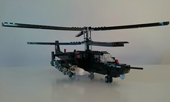 Kamov KA-50 Black Shark (Luka R) Tags: lego military helicopter kamov ka50 black shark akula chernaya