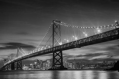 City Nights (Thomas Hawk) Tags: architecture america california sf baybridge bridge sanfrancisco fav10 fav25 fav50 fav100