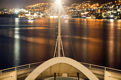 Bow (Curtis Gregory Perry) Tags: dubrovnik croatia adriatic sea night longexposure cruise ship bow water reflection city nikon d800e dalmatia hrvatska ragusa