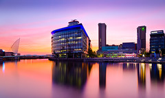 Afterglow (Ian S Armstrong) Tags: uk manchester salford urban architecture longexposure hdr tonemap photomatix england