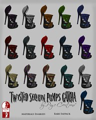 Twisted Sequin Pumps GATCHA by Page Creations   (Raven Page) Tags: gatcha thf16 twisted materialsenabled rigged mesh slink high