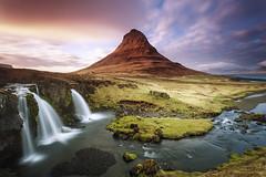 Souvenirs d'Islande (PLF Photographie) Tags: islande iceland landscape coucher soleil nature sky ciel sunset long exposure exposition longue kirkjufell