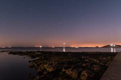 DSE_3236 (alfiow) Tags: fortalbert hurstcastle moon moonlit rocks totland