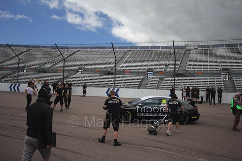 Mark Howard on the grid at Rockingham, August 2016