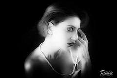 pearl necklace (Tiziano Photography) Tags: pearl portrait woman dreaming fashion bw nikond750 d750 nikon girl perle ritratto donna ragazza