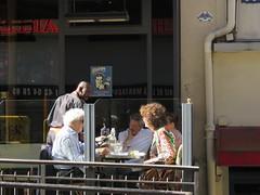 Space Invader PA_003 (tofz4u) Tags: 75005 paris streetart artderue invader spaceinvader spaceinvaders mosaque mosaic tile reactivated restaur pa003 pa03 street rue people bar bistrot restaurant terrasse djeuner lunch garon serveur