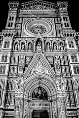 Cathedral Of Santa Maria Del Fiore, Florence, Italy (at night) (mikederrico69) Tags: italia italy church cathedral santa maria florence street night city bw blackandwhite black building traval trip architecture renaissance gothic landmark arnolfo di cambio firenze europe filippo brunelleschi piazza del duomo dome