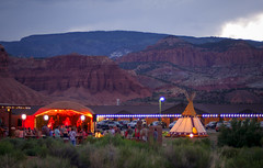 rmbmtttp (Symic) Tags: torrey utah andrswilliamolsenrodriguez sister wives music mountains tepee tent redrock lights glow play venue gather celebrate