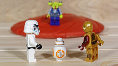 The Mother Ship has landed (Busted.Knuckles) Tags: home toys lego minifigures startrooper bb8 c3po alien pentaxk3 dxoopticspro11