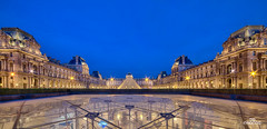 Louvre Museum and Square (brenac photography) Tags: brenac d810 france nikond810 brenacphotography nikon wow paris ledefrance fr oloneo louvre museum bluehour cityscape samyang parismaville golden architecture building light romantic travel