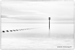 Solitude (Graham Cummings) Tags: sea sky waves landscape long xposure longexposure yorkshire bridlington art fine fineart black white mono monochrome blackandwhite bigstopper 10 10stopnd seascape water tide hightide