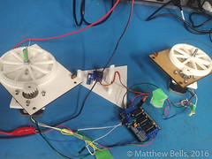 IMG_20160816_2143433 (mbells) Tags: 3dprint arduino drawbot kwartzlab makelangelo makerexpo lasercut make maker motor robot steppermotor