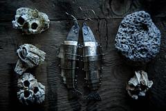 Lure (Carin Jones - Jonesing for Jewelry) Tags: metalsmith fishing salmon fish trout river earrings jewelry explore