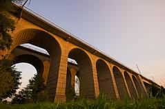 Bielefeld Viadukt (Andreas Steffen) Tags: bielefeld sony photographing slt57 sunset sun sonne sonnenuntergang viadukt eisenbahn railway bridge