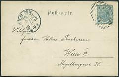 Archiv H343 Geburtstagsgre (back) vom 26. Mrz 1903 (Hans-Michael Tappen) Tags: archivhansmichaeltappen postkarte 1903 geburtstagskarte geburtstag briefmarke sterreichungarn 1900er 1900s poststempel stamps