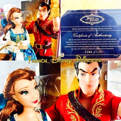 They're here omg I love them so much  (French_Disney_Princess) Tags: fairytale disneystore dolls designer gaston belle