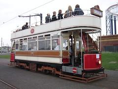 Blackpool Tramway: Marton 31 at Pleasure Beach (24/09/2016) (David Hennessey) Tags: blackpool tramway marton 31 double deck car pleasure beach