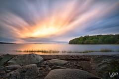 Last Day of Summer (Victor Liu ) Tags: d750 landscape boston cloud tree beach coas tide pebble sunset storm sea