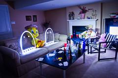 A Wild Night in Tijuana (adrianlischer) Tags: longexposure light party wild selfportrait lightpainting night table fun tv nikon mess long scene drinks drugs static lightgraffiti d7000 nikond7000 awildnightintijuana
