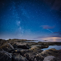 2012 Perseid Meteor Shower + ISS passage (cablefreak) Tags: fall night island shower star nocturnal gothenburg peak galaxy astrophotography strike shooting astronomy comet meteor milkyway hn perseid swifttuttle ersdalen perseiderna