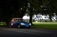 Driving home in the sunset (bent inge) Tags: greatbritain blue england green yorkshire citroen ds citroën gb 70s harrogate citroends stationwagon citroënds citroëndsbreak dsbreak bentingeask askphoto 15icccr