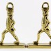 177. Brass Hessian Soldier Bookends