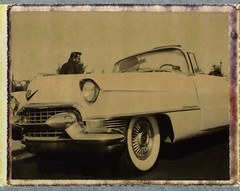 Elvis with his Pink Cadillac (Nick Leonard) Tags: old classic beautiful car wheel analog vintage polaroid whitewalls automobile gorgeous nevada nick elvis tire headlights cadillac scan retro grill transportation vehicle thestrip timeless expiredfilm elvispresley elvisimpersonator packfilm lasvegasblvd polaroidlandcamera lasvegassign instantfilm type100 polaroidweek epson4490 chromebumper polaroidfilm polaroid103 peelapartfilm southstrip polaroid103landcamera nickleonard chocolatefilm polaroidchocolatefilm believeinfilm roidweek2012