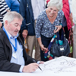 Chris Riddell live sketching