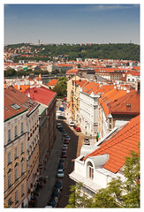 Prague view from Vysehrad (x_ball) Tags: summer sky green architecture prague cityscapes 450d