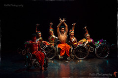 Ability Unlimited... (Gulfu) Tags: love students night canon is dance wheelchair 7d passion disabled motivation 70200 f4 spotmetering bharatanatyam onwheels disabledkids bestphotoaward abilityunlimited jtpac besttroop bestofgulfu