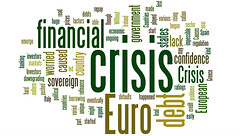 Euro Financial Crisis Word Cloud - Green