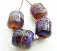 Electrical Storm ( (Glittering Prize - Trudi) Tags: storm glass beads handmade barrel electrical lampwork artisan