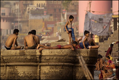 Sunday morning (piyush in) Tags: varanasi aasia ganga ghat flickraward earthasia earthasi gangabath mygearandme mygearandmepremium