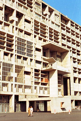 chandigarh - secretariat 7 (Doctor Casino) Tags: sun building architecture facade screen architect shade lecorbusier executive offices chandigarh brisesoleil capitolcomplex brisessoleil 19511962 sunbreaker