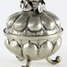 "1060. Silver Tone Lidded ""Pomegranate"" Box"