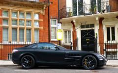 Missile (BenGPhotos) Tags: black slr london car yellow matt mercedes benz photo long fast exotic german mclaren british supercar v8 spotting matte hypercar