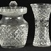 258. Waterford Crystal Lidded Jar and Bud Vase