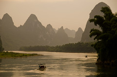 golden evening (waynekorea) Tags: china sunset mountains river liriver evening guilin yangshuo explore onexplore xingping explored mygearandme