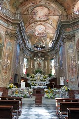 Casella Church Altar (Italy Chronicles Photos) Tags: italy architecture paintings murals indoor chruch genoa casella