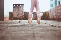 walk me down your broken lane (Ana Lusa Pinto [Luminous Photography]) Tags: roof ballet plant feet foot shoes pointe luminousphotography luminouslu analusapinto