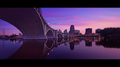 minneapolis bridge (Dan Anderson.) Tags: city bridge minnesota architecture river mississippi downtown arch pano minneapolis panoramic twincities avenue mn 3rd 3rdavenue purplerain centralavenue centralavebridge