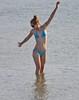 Margate Beach Candid - Aug 2012 - Skinny Beauty Strikes a Pose (Gareth1953 All Right Now) Tags: blue reflection girl sunglasses candid posing pale bikini elegant redhair margate inthesea eoshe hairinabun canoneos450d