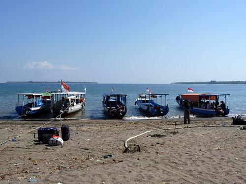 Bangsal, Lombok , départ pour Gili Air