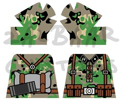 Waffen-SS Eichentarn Camo smock (zalbaar) Tags: world 2 war lego wwii ss camo german camouflage ww2 decal smock customs waffen kar98 zalbaar eichentarn