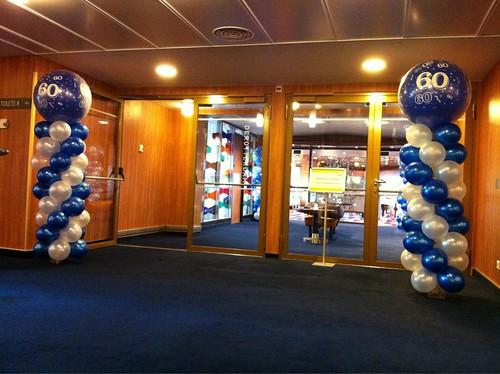 Ballonpilaar Breed Rond SS Rotterdam